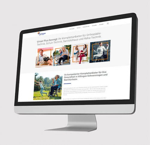 Neue Website in Apple Bildschirm