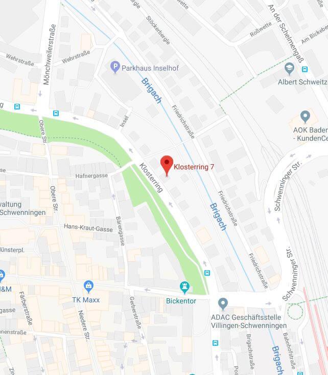 Maps Standort Zentrale Villingen